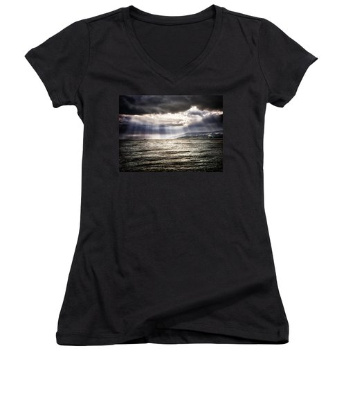 After The Storm Sea Of Galilee Israel Women's V-Neck