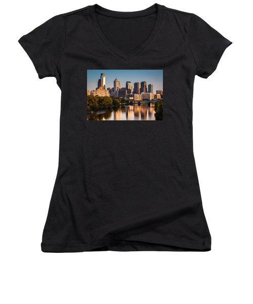 Afternoon In Philly Women's V-Neck