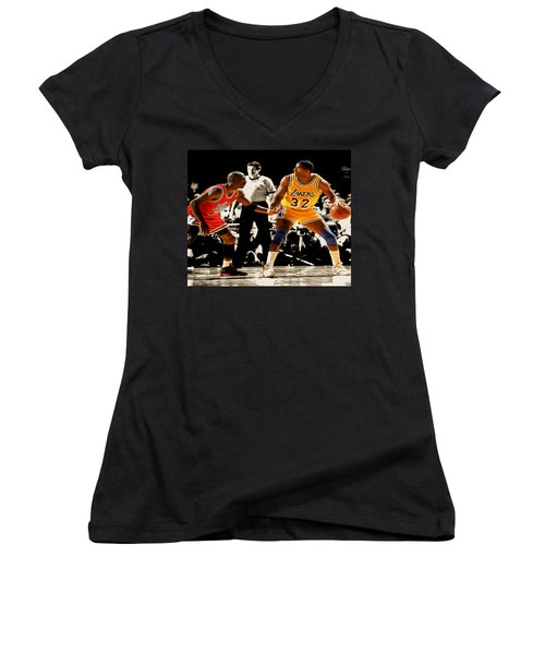 Air Jordan On Magic Women's V-Neck T-Shirt