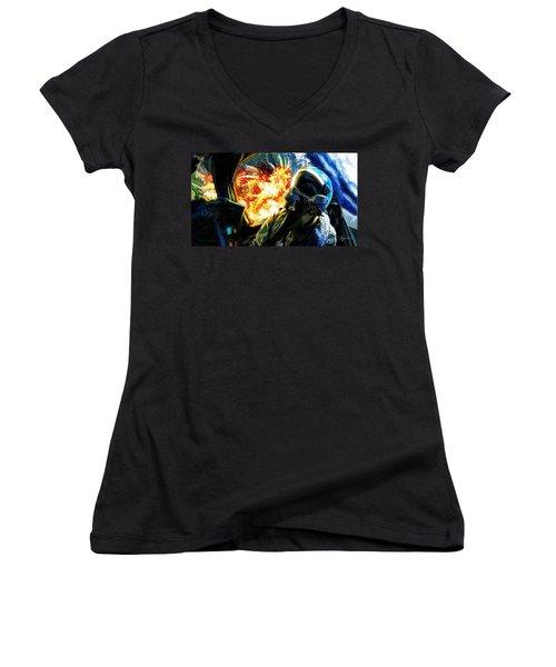 Air To Ground Women's V-Neck T-Shirt