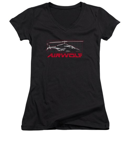 Airwolf - Grid Women's V-Neck (Athletic Fit)
