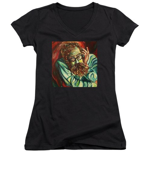 Alan Ginsberg Poet Philosopher Women's V-Neck