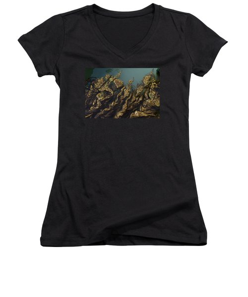 Algae Women's V-Neck T-Shirt (Junior Cut) by Ron Harpham