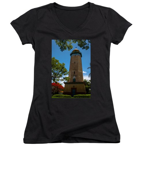 Alhambra Water Tower Of Coral Gables Women's V-Neck