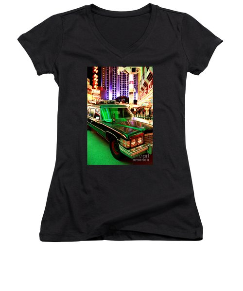 Alice Cooper's Hearse Women's V-Neck T-Shirt
