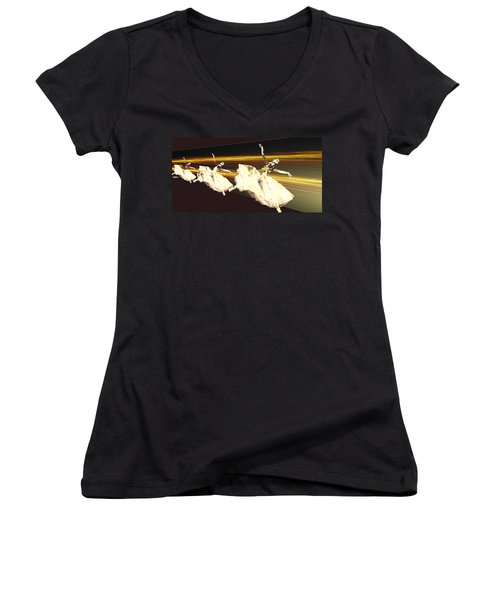 Alive In The Music Women's V-Neck (Athletic Fit)
