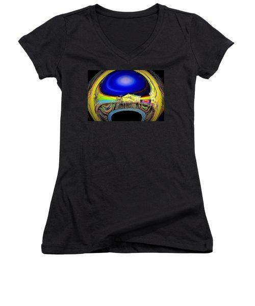 All Aboard  Women's V-Neck T-Shirt