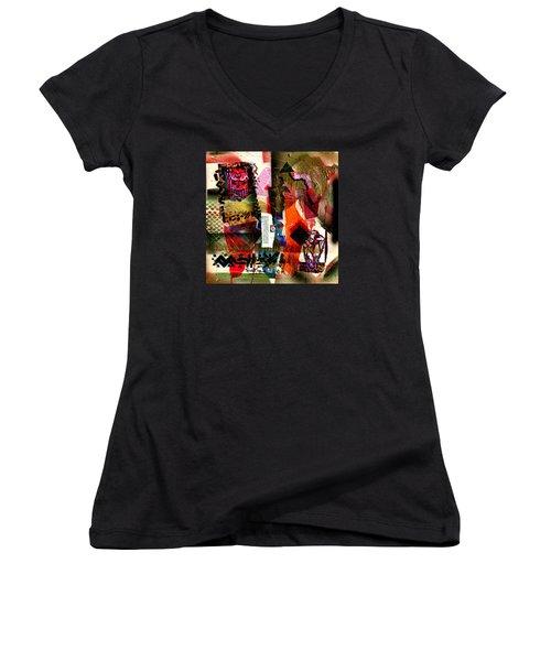 Allegories Of Liberty Women's V-Neck T-Shirt (Junior Cut) by Everett Spruill