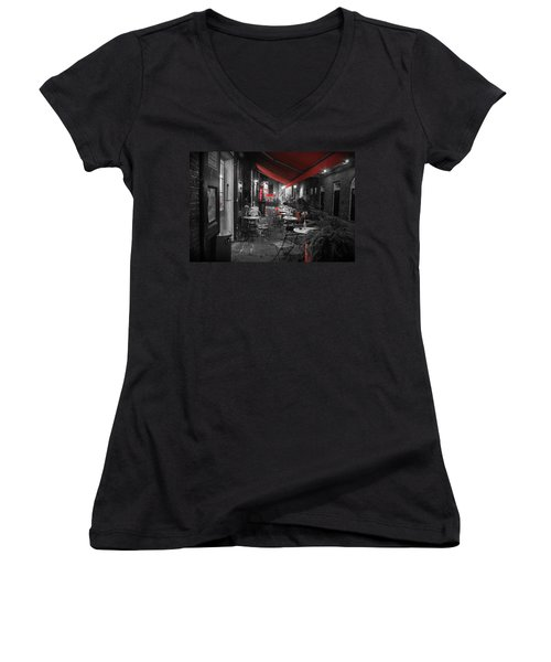 Alley Cafe Women's V-Neck