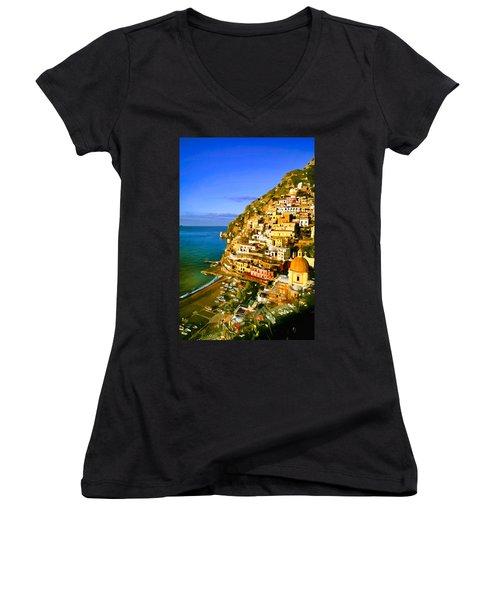 Along The Amalfi Coast Women's V-Neck