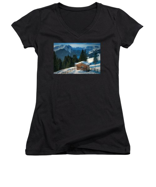 Alpine View Women's V-Neck (Athletic Fit)