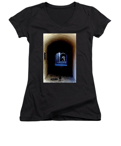 Altered Arch Walkway Women's V-Neck T-Shirt