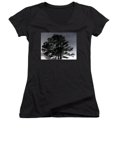 Asphalt Reflections Women's V-Neck T-Shirt