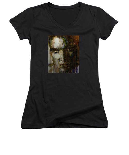 Always On My Mind Women's V-Neck T-Shirt (Junior Cut) by Paul Lovering