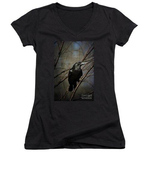 American Crow Women's V-Neck