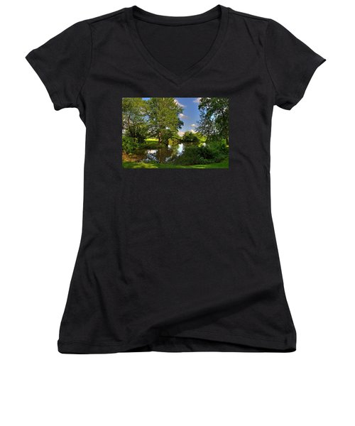 American Farm Pond Women's V-Neck