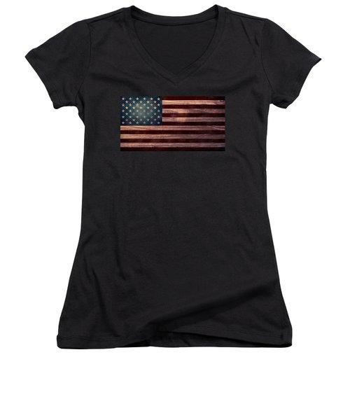 American Flag I Women's V-Neck T-Shirt