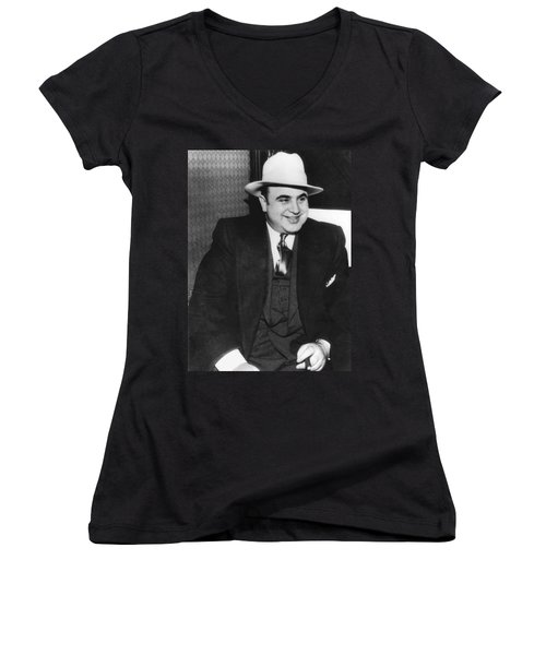 American Gangster Al Capone Women's V-Neck (Athletic Fit)