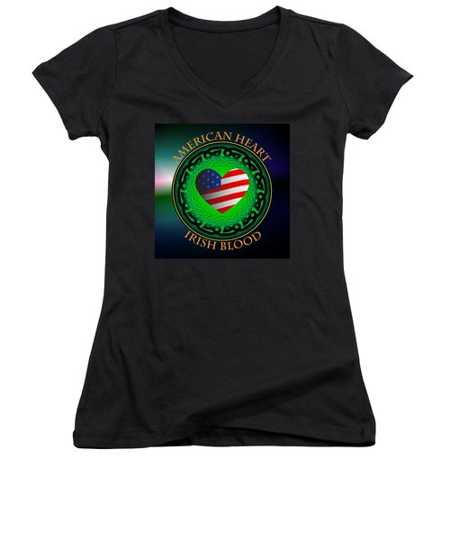 American Heart Irish Blood Women's V-Neck (Athletic Fit)