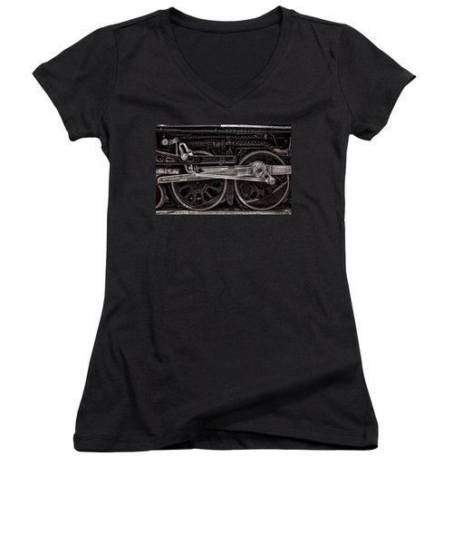 Women's V-Neck T-Shirt (Junior Cut) featuring the photograph American Iron by Ken Smith