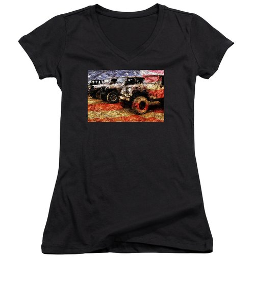 American Jeeps Women's V-Neck (Athletic Fit)