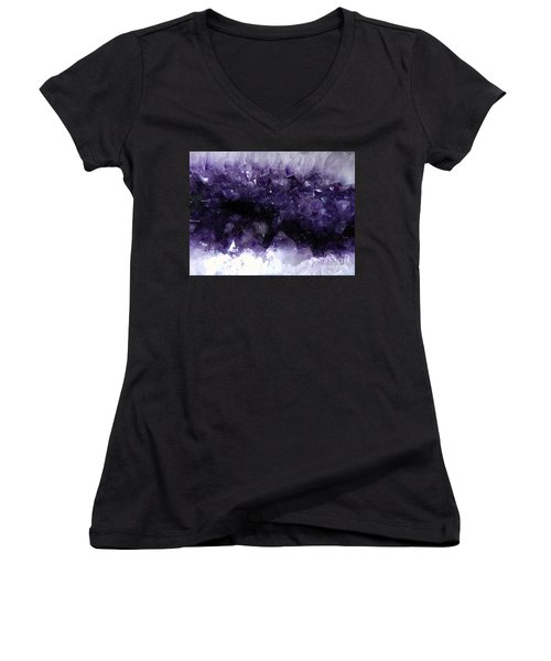 Amethyst Geode Women's V-Neck (Athletic Fit)