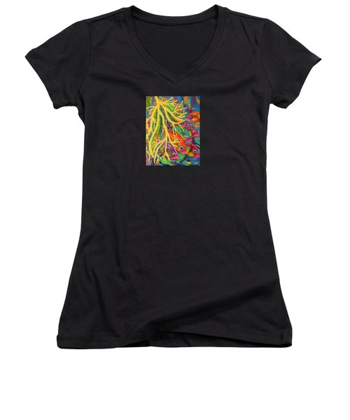 Amongst The Coral Women's V-Neck T-Shirt