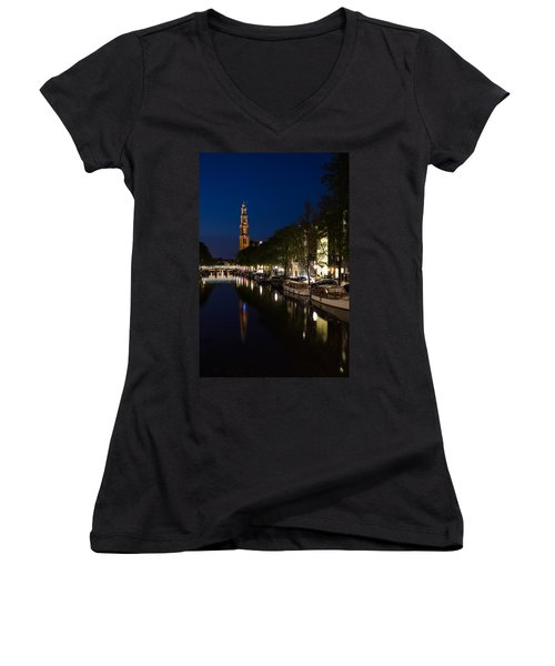 Amsterdam Blue Hour Women's V-Neck T-Shirt