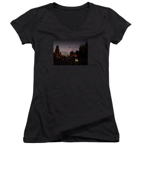 Mumbai Women's V-Neck T-Shirt (Junior Cut) by Salman Ravish