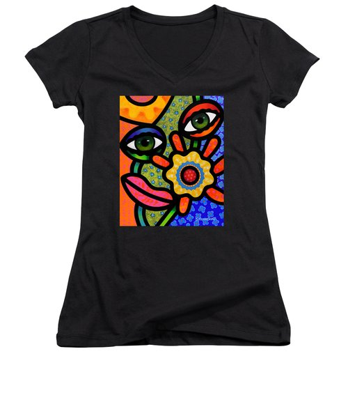 An Eye On Spring Women's V-Neck T-Shirt