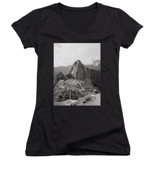 Ancient Machu Picchu Women's V-Neck T-Shirt