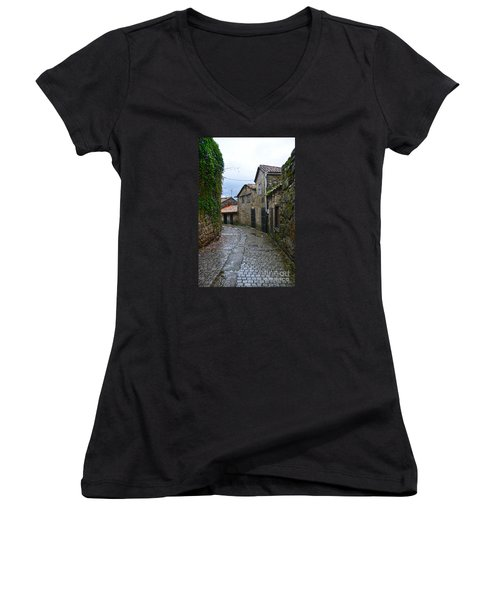 Ancient Street In Tui Women's V-Neck