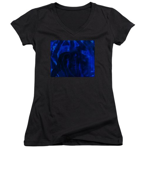 And Out In The Pouring Rain Women's V-Neck (Athletic Fit)