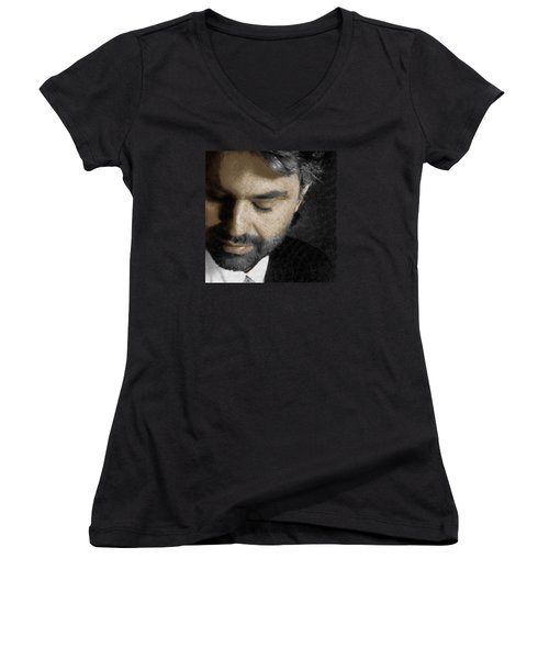 Andrea Bocelli And Square Women's V-Neck