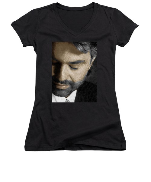 Andrea Bocelli And Vertical Women's V-Neck