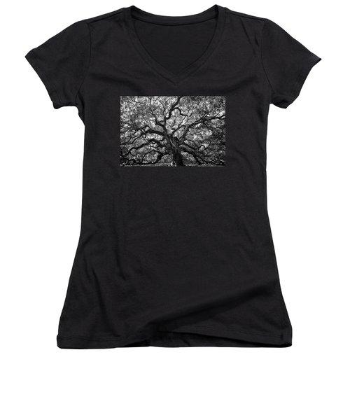 Angel Oak Women's V-Neck T-Shirt (Junior Cut)