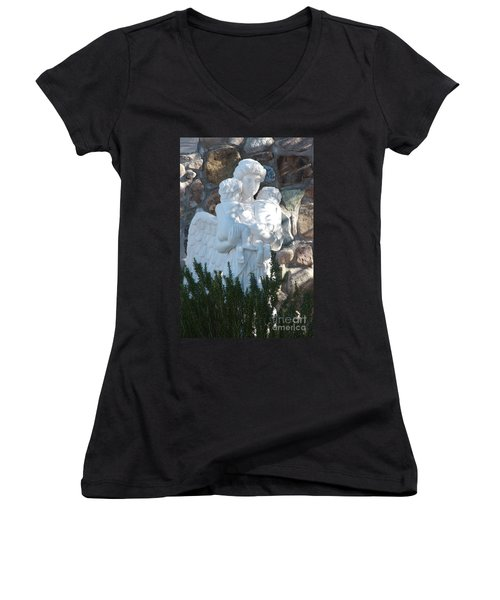 Angelic Motherhood Women's V-Neck (Athletic Fit)