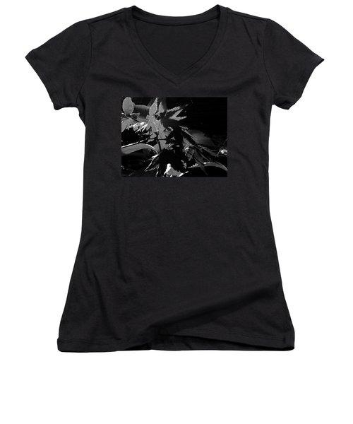 Angels Or Dragons B/w Women's V-Neck T-Shirt (Junior Cut) by Martin Howard