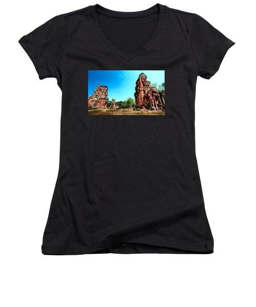 Angkor Wat Ruins Women's V-Neck