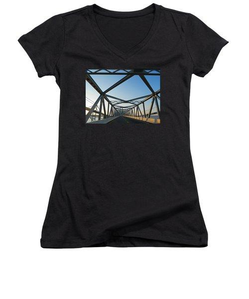 Annapolis Bay Bridge At Sunrise Women's V-Neck T-Shirt