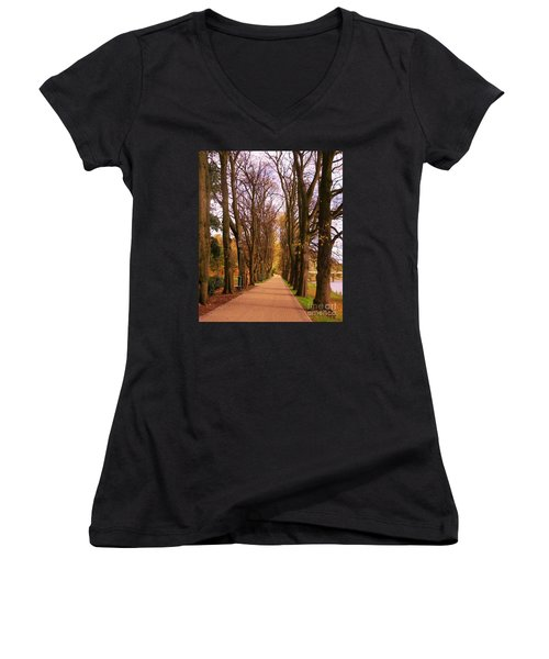Another View Of The Avenue Of Limes Women's V-Neck T-Shirt