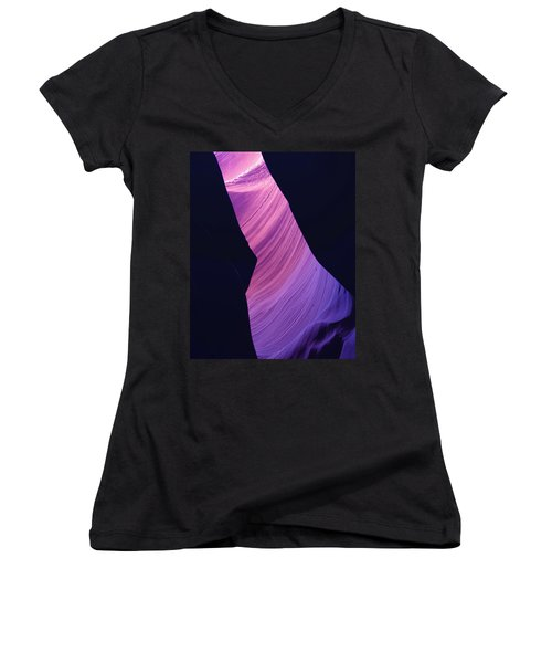 Antelope Canyon 10 Women's V-Neck T-Shirt (Junior Cut) by Jeff Brunton