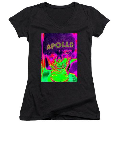 Apollo Abstract Women's V-Neck T-Shirt