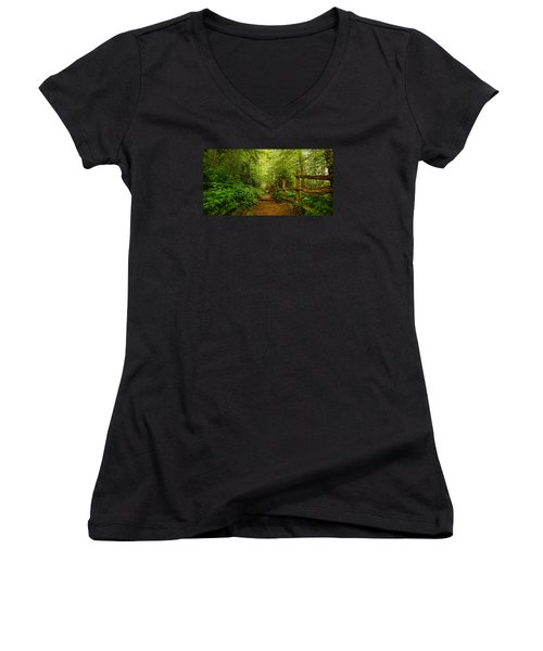 Appalachian Trail At Newfound Gap Women's V-Neck (Athletic Fit)