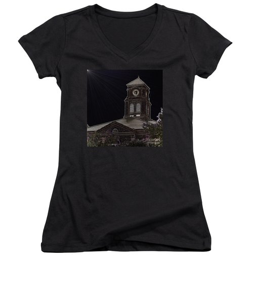 Appanoose County Courthouse Women's V-Neck T-Shirt