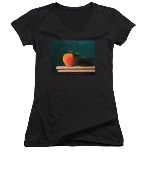 Apple Women's V-Neck (Athletic Fit)