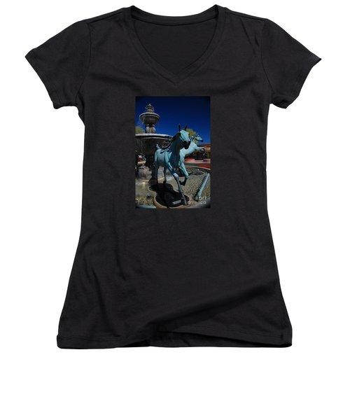 Arabian Horse Sculpture Women's V-Neck T-Shirt