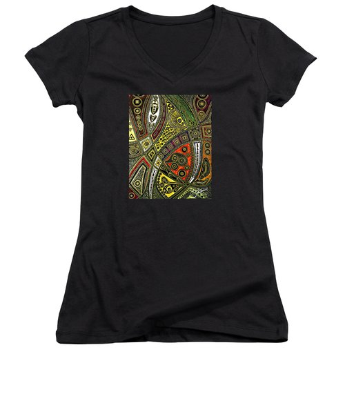 Arabian Nights Women's V-Neck T-Shirt (Junior Cut) by Jolanta Anna Karolska