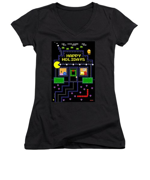 Arcade Holiday Women's V-Neck (Athletic Fit)