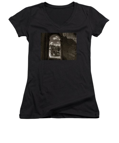 Arch Of Constantine From The Colosseum Women's V-Neck